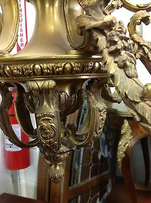 Rococo Bronze 6 Arm 12 Light Chandelier 3