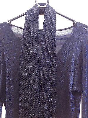 Asian Blue Jersey Sparkle Trouser Suit   Small   Ret £115     Bnwt 7 • EUR 38,29