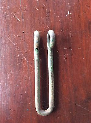 Antique Primitive Green Farm Country U Hook Loop Hardware 3