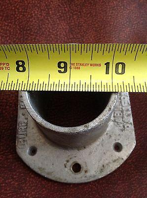 "Vintage 2"" Aluminum Lever Rod Rail End Brackets (2) Burbank California USA 6"