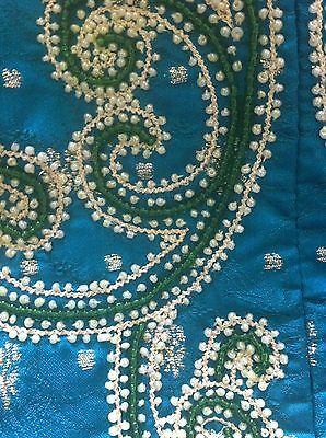 Green Gold Pearl Design Salwar Kameez Stiched Suit Size L 11