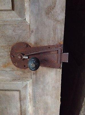 Antique Door New England 18th C Interior 4 Rsd Pnl Door Keyhole Spring Latch 2