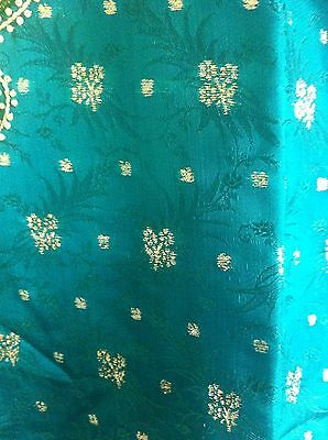 Green Gold Pearl Design Salwar Kameez Stiched Suit Size L 7