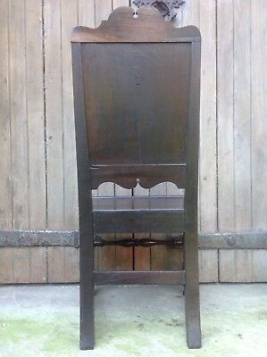 Splendid 17th century demon bat carved oak Wainscot chair Anglesey North Wales 11