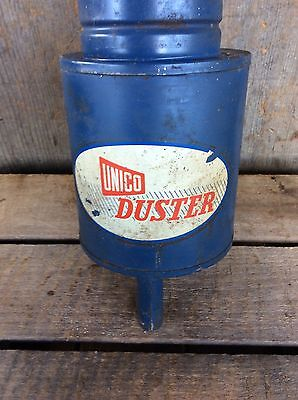 Vintage Unico Duster Garden Spray Farm Fumigator Blue Nice Decor 3