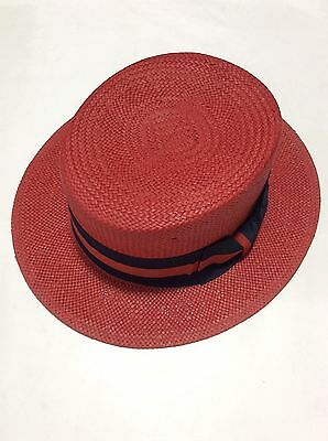 New Men's Bruno Capelo Hat Straw Boater Gatsby barbershop skimmer Fashion Colors 11