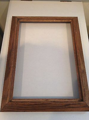 Vintage Oak Frame 17x 12 34 Early American Stain Fits 10 By 14