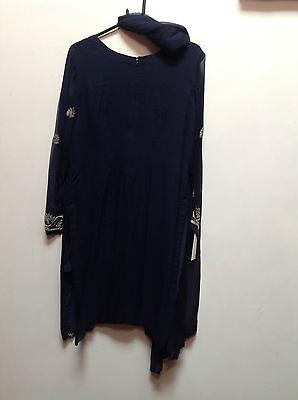Blue Salwar Kameez Suit & Dupatta   Medium   Ret £250   Bnwt 4