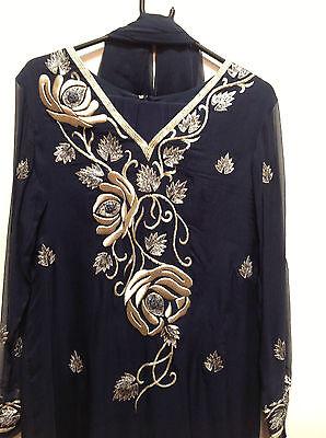 Blue Salwar Kameez Suit & Dupatta   Medium   Ret £250   Bnwt 2