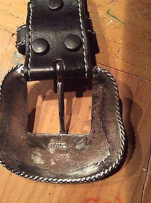 Girls Belts/ Nocona Belt Co black Leather Studded Belt 7