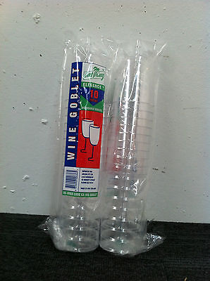 Wine Goblets 197 ML Clear plastic 250 pieces / Carton ( 25 sleeves x 10 pcs )