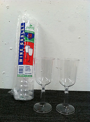 Wine Goblets 197 ML Clear plastic 250 pieces / Carton ( 25 sleeves x 10 pcs ) 4