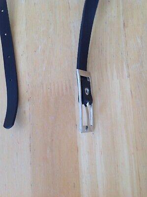 Black Plastic Girl's Belt 2