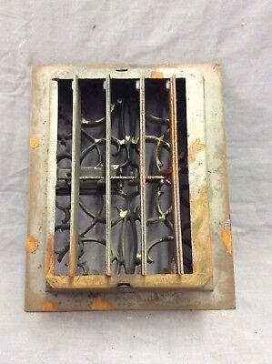 Antique Cast Iron Decorative Heat Grate Floor Register 8X10 Vintage Old 13-19D 3