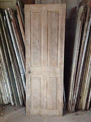 Antique Door New England 18th C Interior 4 Rsd Pnl Door Keyhole Spring Latch 4