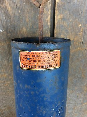 Vintage Unico Duster Garden Spray Farm Fumigator Blue Nice Decor 4