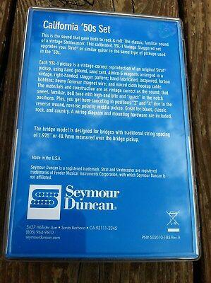 Seymour Duncan SSL-1 California 50's Single Coil Set Fender Stratocaster White 3