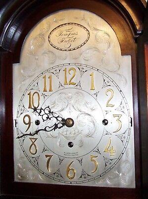 Antique Musical Chiming Mahogany Longcase Grandfather Clock LISTER & SONS 5