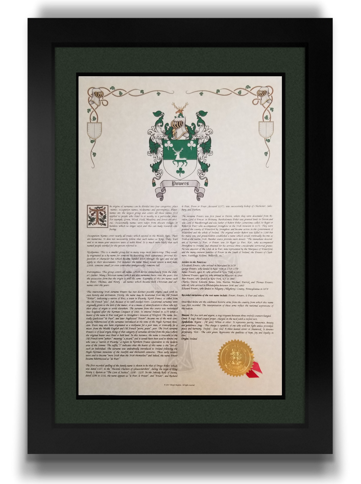 Here Arms of Coat Crest Family NAME Prints FIND YOUR 80kOPwn