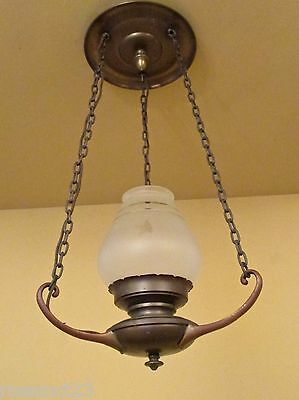 Vintage Lighting remarkable antique 1930s foyer or hall fixture 3