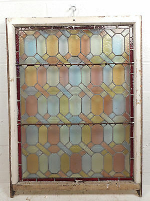 Large Vintage Stained Glass Window Panel (3103)NJ 3