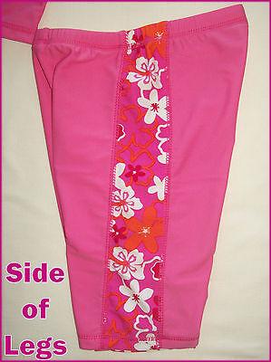GIRLS 2 pc RASHI SWIMWEAR Sz 6 8 10 PINK TOGS Long Sleeved Rash Top + Shorts NEW