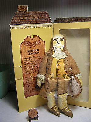 MA $.25 American Spirit Ben Franklin Hallmark cloth doll