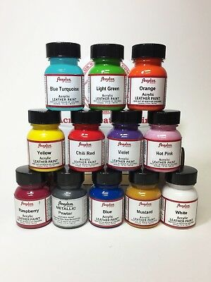 Angelus Brand Acrylic Leather & Vinyl Waterproof Paint 83 Colors! 4