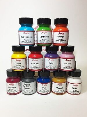 Angelus Brand Acrylic Leather & Vinyl Waterproof Paint 83 Colors! 5