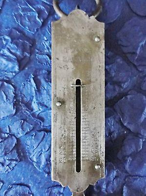 POCKET BALANCE antike Waage / Sackwaage / Fischwaage  bis 25 kg 3