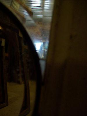 Simple heavy bevel glass transom (SG 1281)
