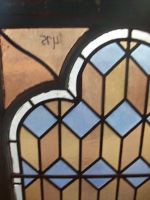 Geometrical Stained glass window w/ neat frame style (SG 1106) 2