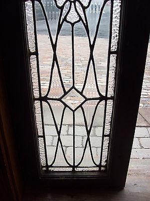Beveled Diamonds and center jewel textured glass tansom window (SG 1203) 5