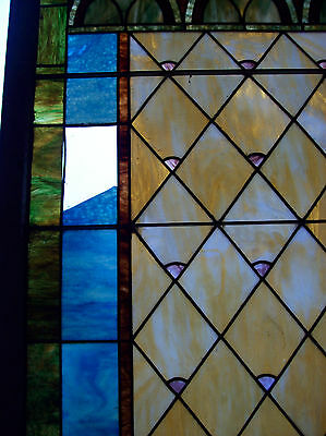 Stained glass window w/ flower and MIGHTY GOLDEN CHALICE #3 8