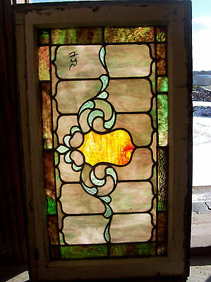 Stained glass Crest center feature window  (SG 1331) 4