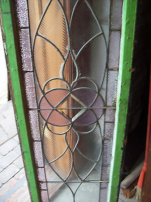 Symmetrical Wave Glass TRANSOM Window Amethyst (SG 1141) 6