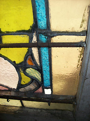 Stained text. glass window bottom landing (SG 1269) 2
