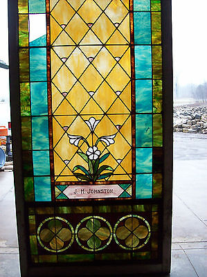 Stained glass window w/ flower and MIGHTY GOLDEN CHALICE #3 2