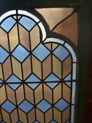 Geometrical Stained glass window w/ neat frame style (SG 1106) 4