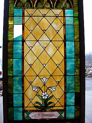 Stained glass window w/ flower and MIGHTY GOLDEN CHALICE #3 5