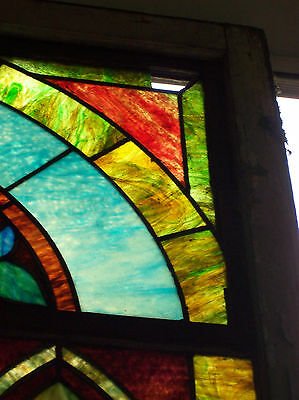 Stained glass window w/ flower and MIGHTY GOLDEN CHALICE #3 4