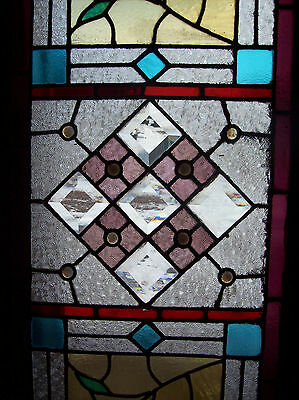 Colorful Stained Glass TEXTURED w/ jewels (SG 1026) 3