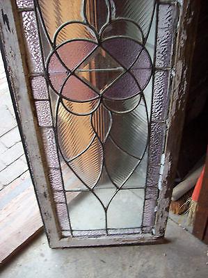 Symmetrical Wave Glass TRANSOM Window Amethyst (SG 1141) 10