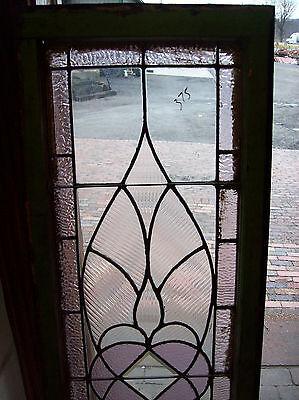 Symmetrical Wave Glass TRANSOM Window Amethyst (SG 1141) 2