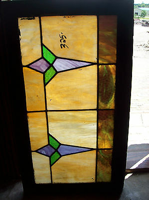 Arts & Crafts Symmetrical Stained glass window (SG 1306) 4