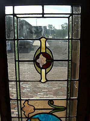 Stained glass surrounded with transparent clear glass (SG 1310) 2
