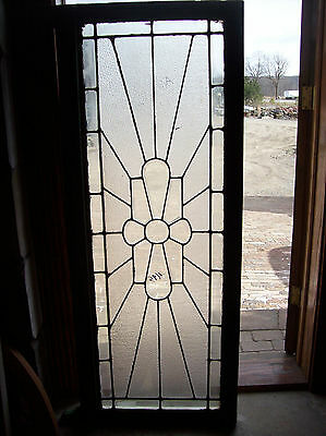 Beveled glass center feature w/ textured glass surround  (SG 1355) 6