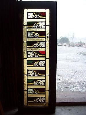Pam's Invert painted flowers window (SG 1358)