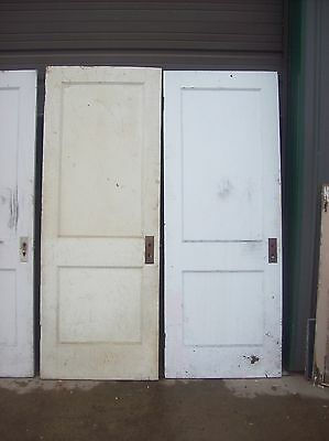 4 available painted 2 panel flat doors    (D q) 3