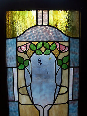 floral stained and textured glass window (SG 1446) 5